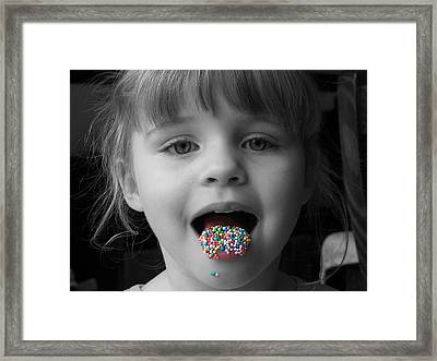 Carly With Hundreds And Thousands Framed Print