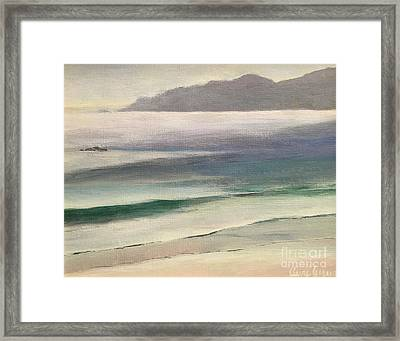 Carmel Beach Framed Print