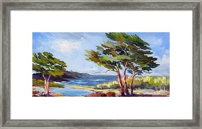 Carmel By The Sea Framed Print by Barbara Moore