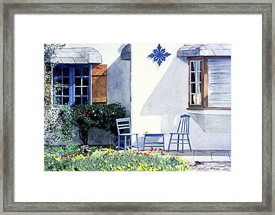 Carmel Cottage With Orange Framed Print by David Lloyd Glover