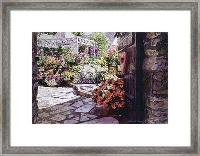 Carmel Garden Gate Framed Print