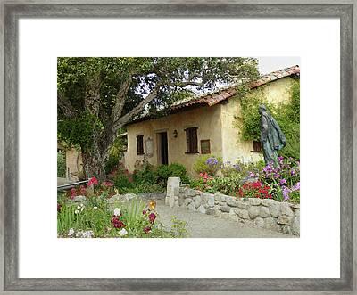 Carmel Mission Grounds Framed Print by Gordon Beck