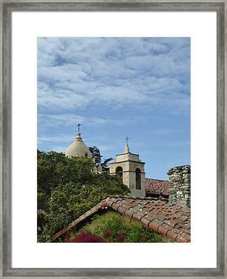 Carmel Mission Rooftops Framed Print by Gordon Beck