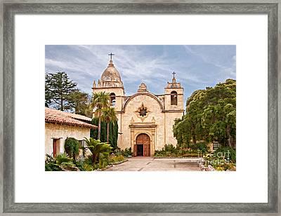Carmel Mission San Carlos Borromeo Framed Print by Gabriele Pomykaj