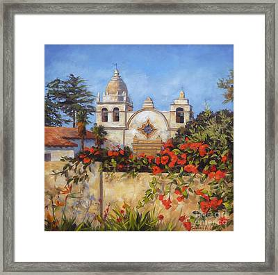 Carmel Mission Framed Print by Shelley Cost