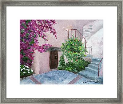 Carmel Mission Side Door Framed Print by Laura Iverson