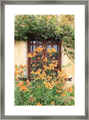 Carmel Mission Window Framed Print by Carol Groenen