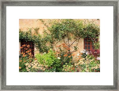 Carmel Mission Windows Framed Print by Carol Groenen