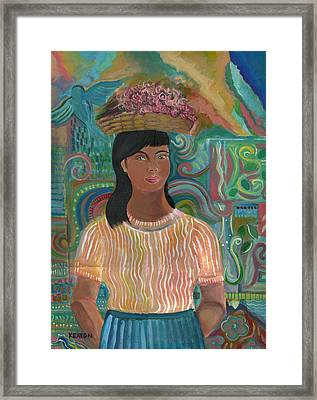Framed Print featuring the painting Carmelita by John Keaton