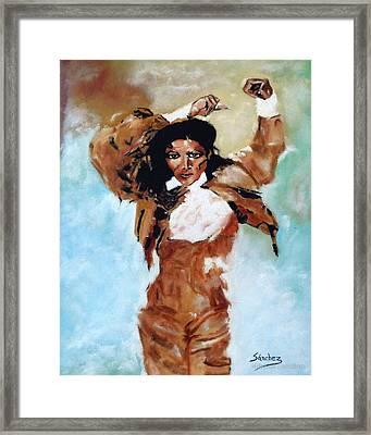 Carmen Amaya Framed Print by Manuel Sanchez