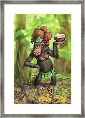 Carmen Coconuts Framed Print