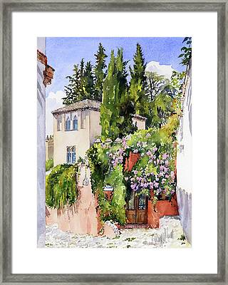 Carmen De La Media Luna Granada Framed Print by Margaret Merry
