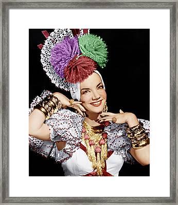 Carmen Miranda, Ca. 1940s Framed Print by Everett