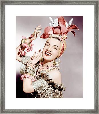 Carmen Miranda, Ca. Early 1940s Framed Print by Everett
