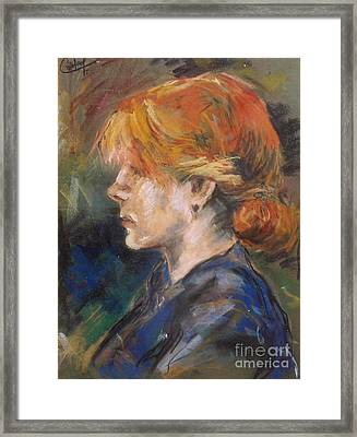 Framed Print featuring the painting Carmen Of Lautrec by Debora Cardaci