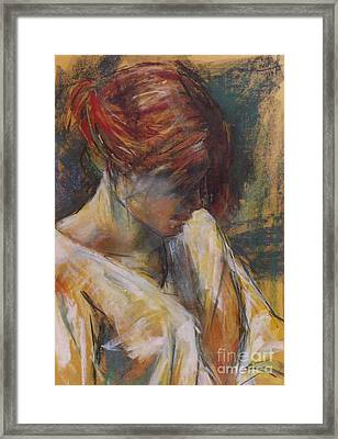 Framed Print featuring the painting Carmen Of Lautrec II by Debora Cardaci