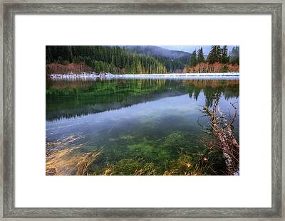 Framed Print featuring the photograph Carmen Reservoir by Cat Connor