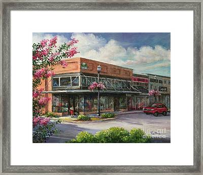Carmen's Corner Framed Print by Virginia Potter