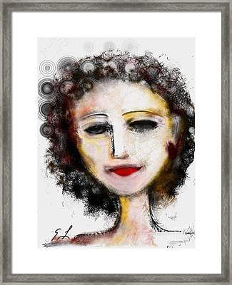 Framed Print featuring the digital art Carmine by Elaine Lanoue