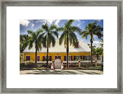 Charming Historic House In St Thomas Framed Print