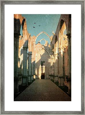 Carmo Ruins In Lisbon Framed Print