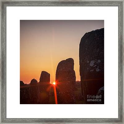 Carnac Sunrise Framed Print by Colin and Linda McKie