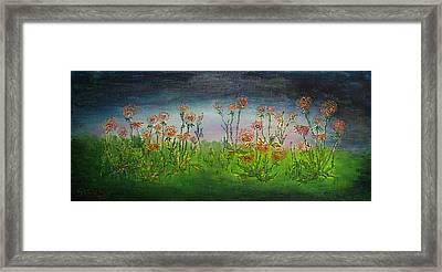 Carnations At Dusk Framed Print by Jacob Stempky