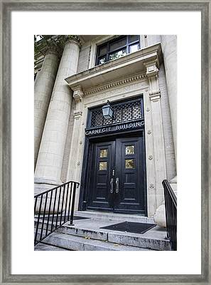 Carnegie Building Penn State  Framed Print by John McGraw