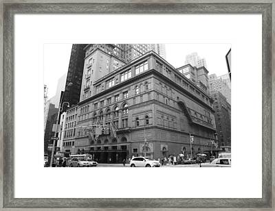 Carnegie Hall Framed Print by Christopher Kirby