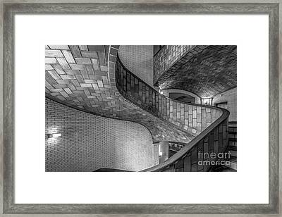 Carnegie Mellon University Baker Hall Stairway Framed Print by University Icons