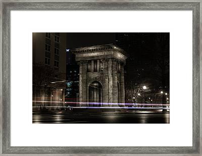 Carnegie Monument Framed Print
