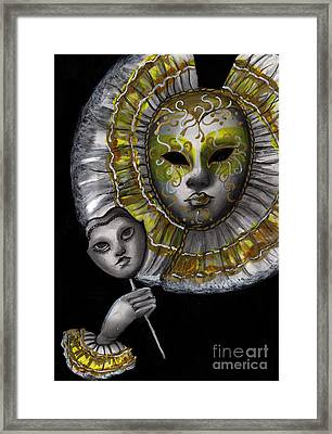 Carnevale Di Venezia Framed Print by Akiko Okabe