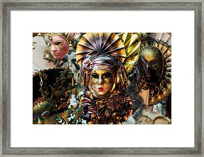 Carnevale Masks In Venice Framed Print