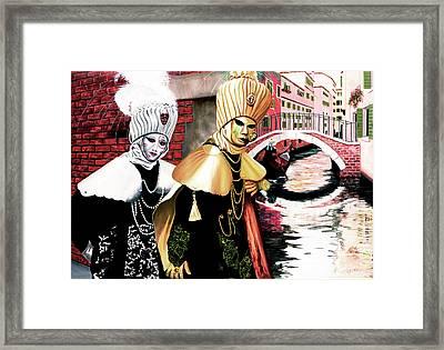 Carnevale Venecia - Prints From My Original Oil Painting Framed Print