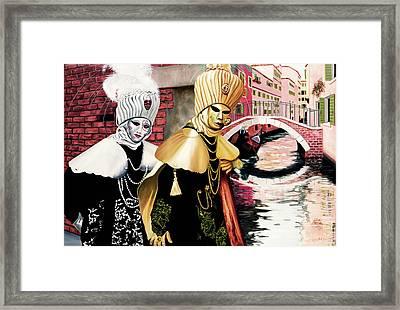 Carnevale Venezia - Prints From Original Oil Painting Framed Print