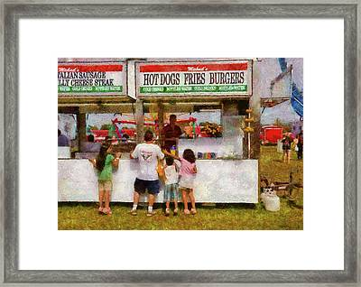 Carnival - Daddy I Want A Hot Dog Framed Print by Mike Savad