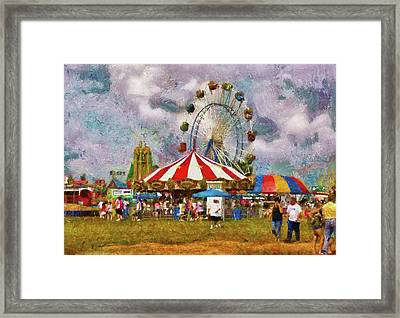 Carnival - Look At All The Excitement Framed Print by Mike Savad