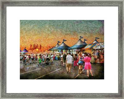 Carnival - Who Wants Gyros Framed Print by Mike Savad