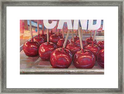 Carnival Apples Framed Print