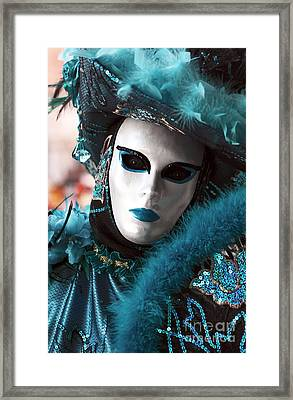 Carnival Blues Framed Print by John Rizzuto
