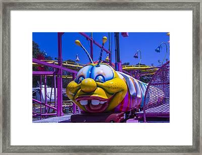 Carnival Caterpillar Ride Framed Print