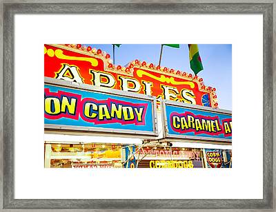 Carnival Concession Stand Signs Framed Print by Paul Velgos