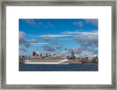 Carnival Cruise Splendor Nyc Skyline Framed Print by Terry DeLuco