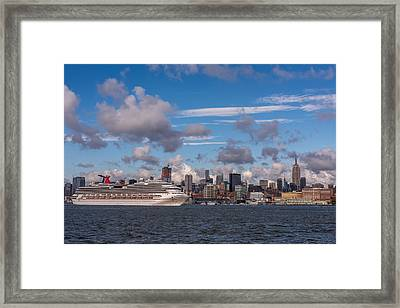 Carnival Cruise Splendor Waterfront Hoboken Nj Framed Print by Terry DeLuco