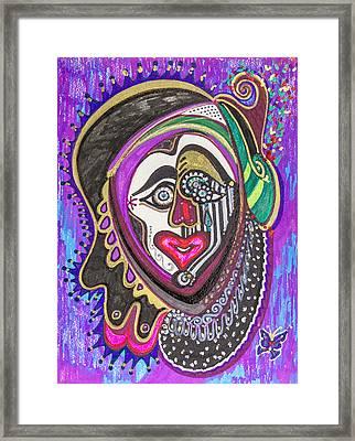Carnival Face Framed Print