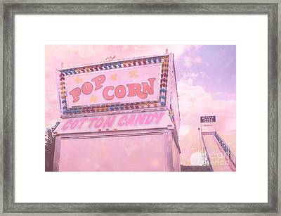 Carnival Festival Popcorn Cotton Candy Slide Fun Framed Print by Kathy Fornal