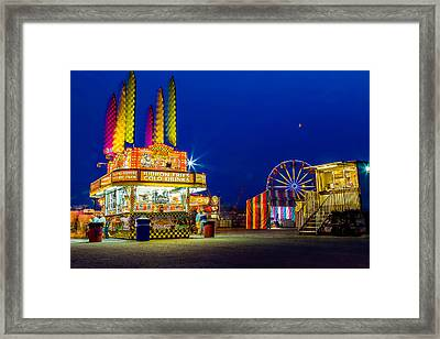 Carnival Glo Framed Print by Bryan Moore