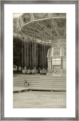 Carnival II Bw Framed Print by Louise Fahy