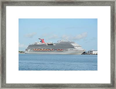 Framed Print featuring the photograph Carnival Magic At Port Canaveral by Bradford Martin