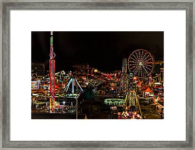 Carnival Midway Framed Print by Linda Constant